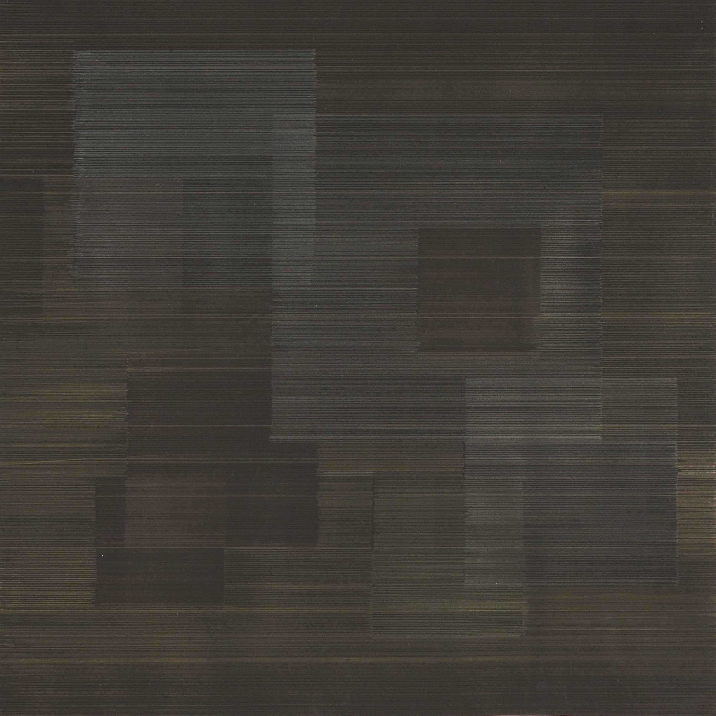 Susan Schwalb - Polyphony #3, Gold and silverpoint on black gesso on Arches paper, 45.7 x 45.7 cm, 2012