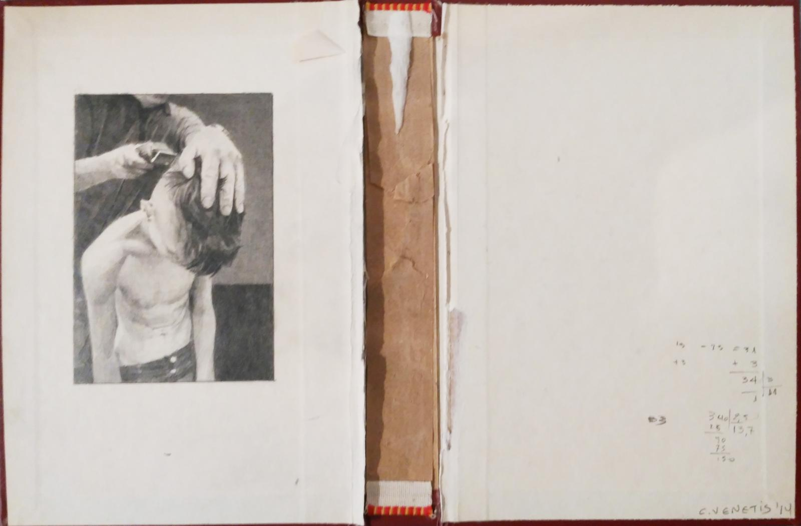 Christos Venetis, Anemic Archives Series, pencil on used book covers, 21,5 x 30 cm, 2013-1